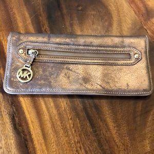 Bronze Michael Kors Wallet Wristlet Clutch